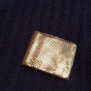 Whiting & Davis Co Mesh Gold Wallet